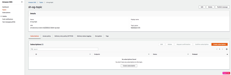 Amazon Security Hub Integration