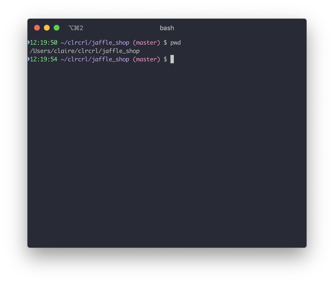 Use `pwd` to ensure that your terminal's working directory is your dbt project.