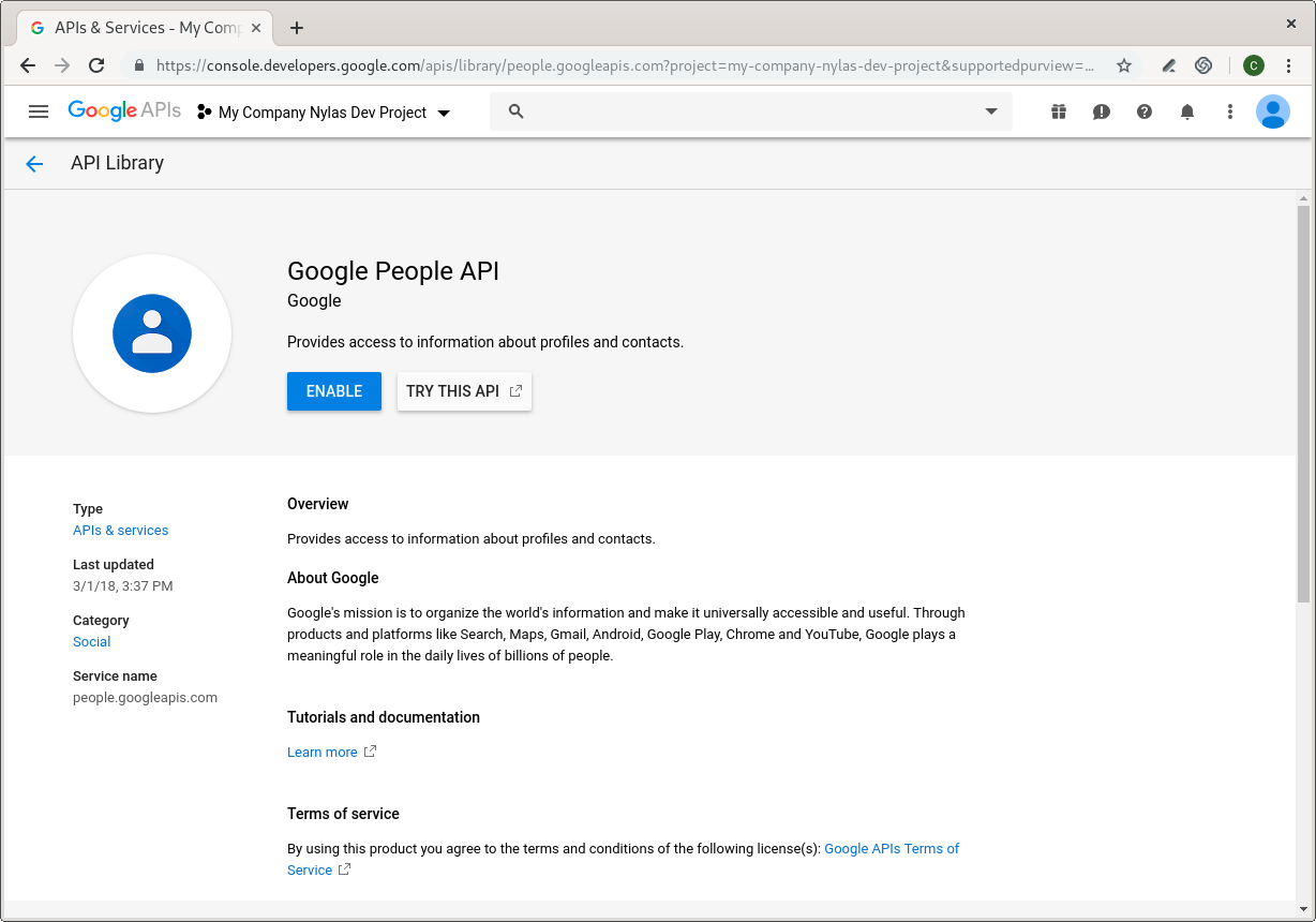 Creating a Google Project and Client ID for Development
