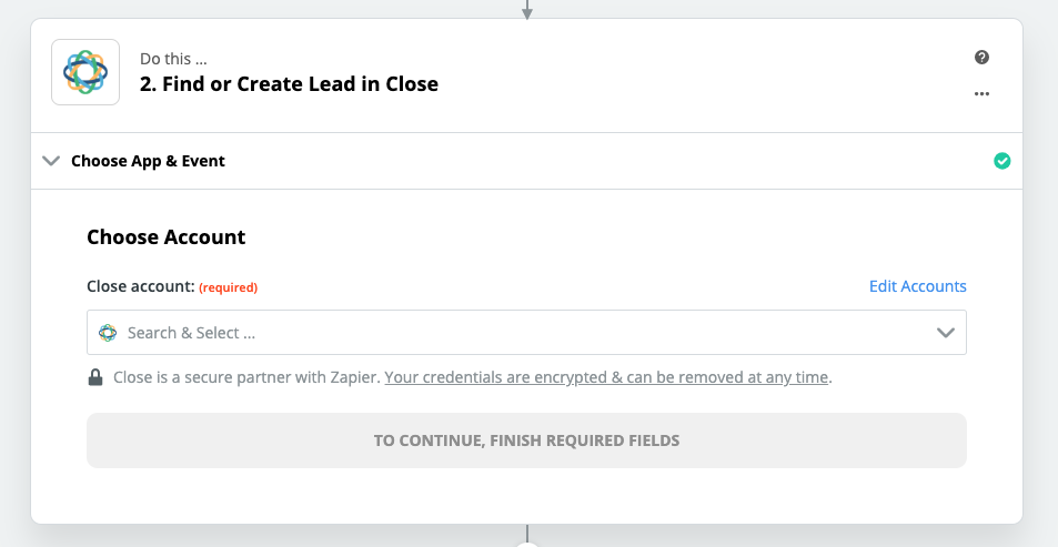Step 2 - Find or Create Lead in Close
