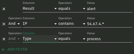 Sandfly Results Filter Builder