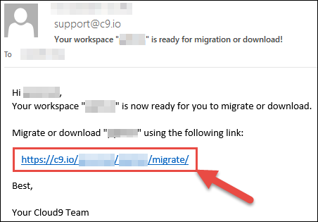Migrating to AWS Cloud9 · Cloud9