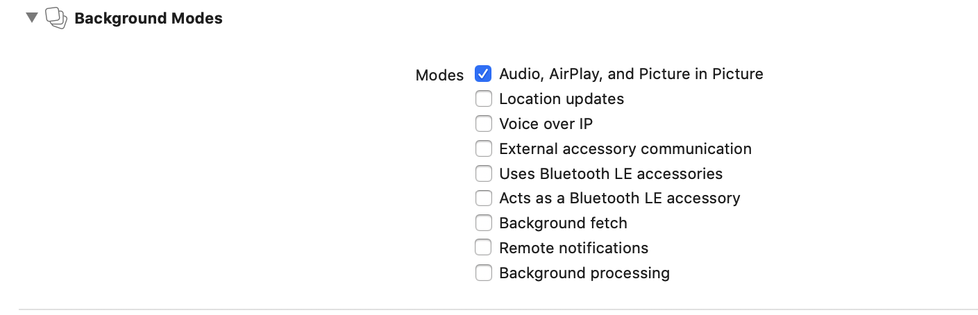 add permission for Audio, AirPlay, and Picture in Picture, for your ios app
