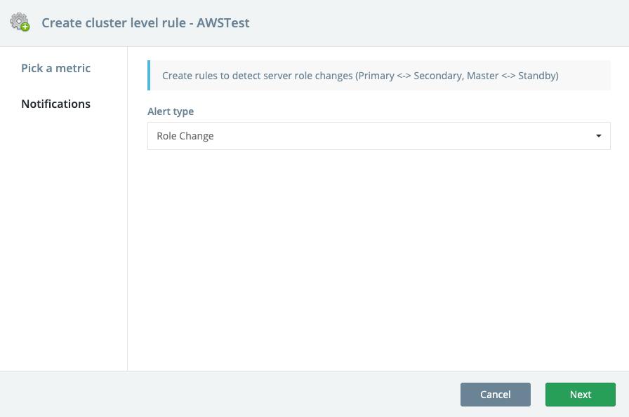 Create PostgreSQL Cluster-Level Alert Rules for Server Role Change