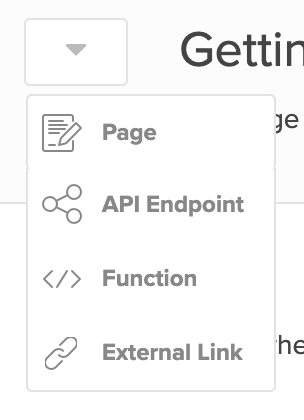 You can specify the page type in this dropdown next to the page title.