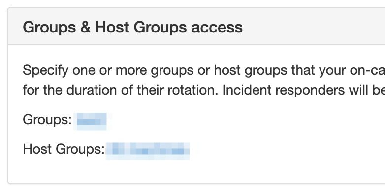 Configure your groups and host groups