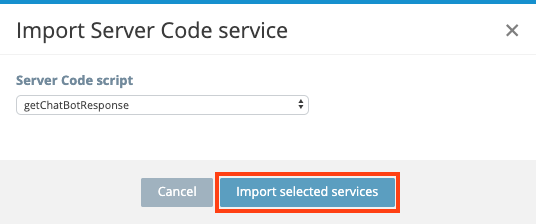 Importing Server code service