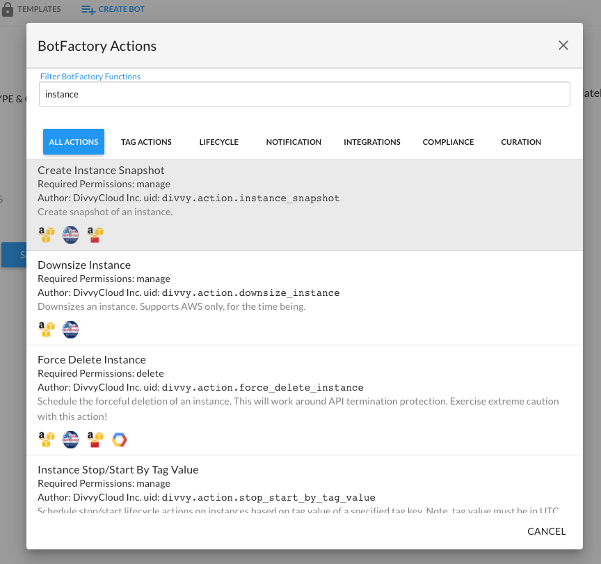 Create Bot - Defining Actions for Your Bot