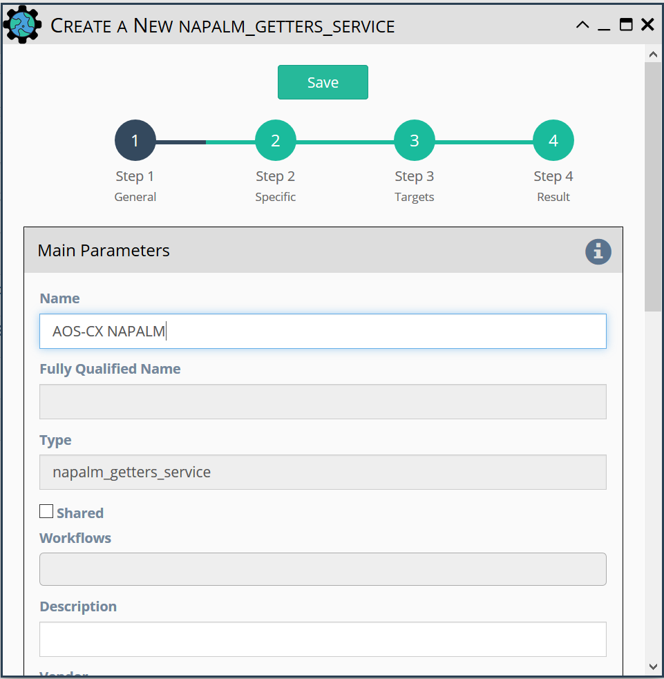 Create a New NAPALM_Getters_Service