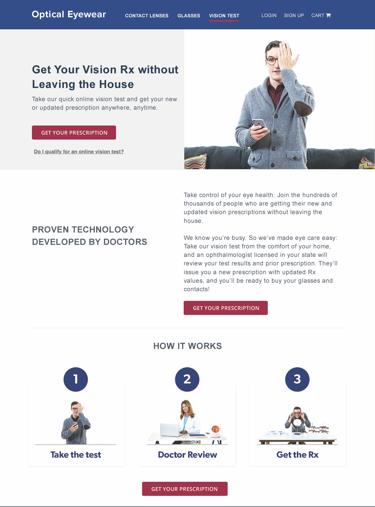 Ex. Landing Page with Header Block & Detailed Steps