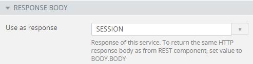 Setting service response