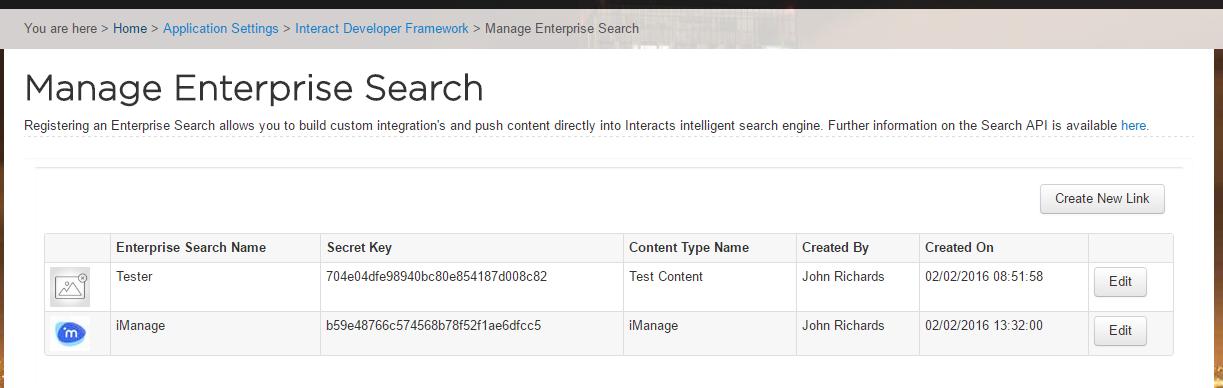 Manage Enterprise Search