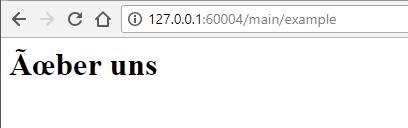 Incorrect encoding example