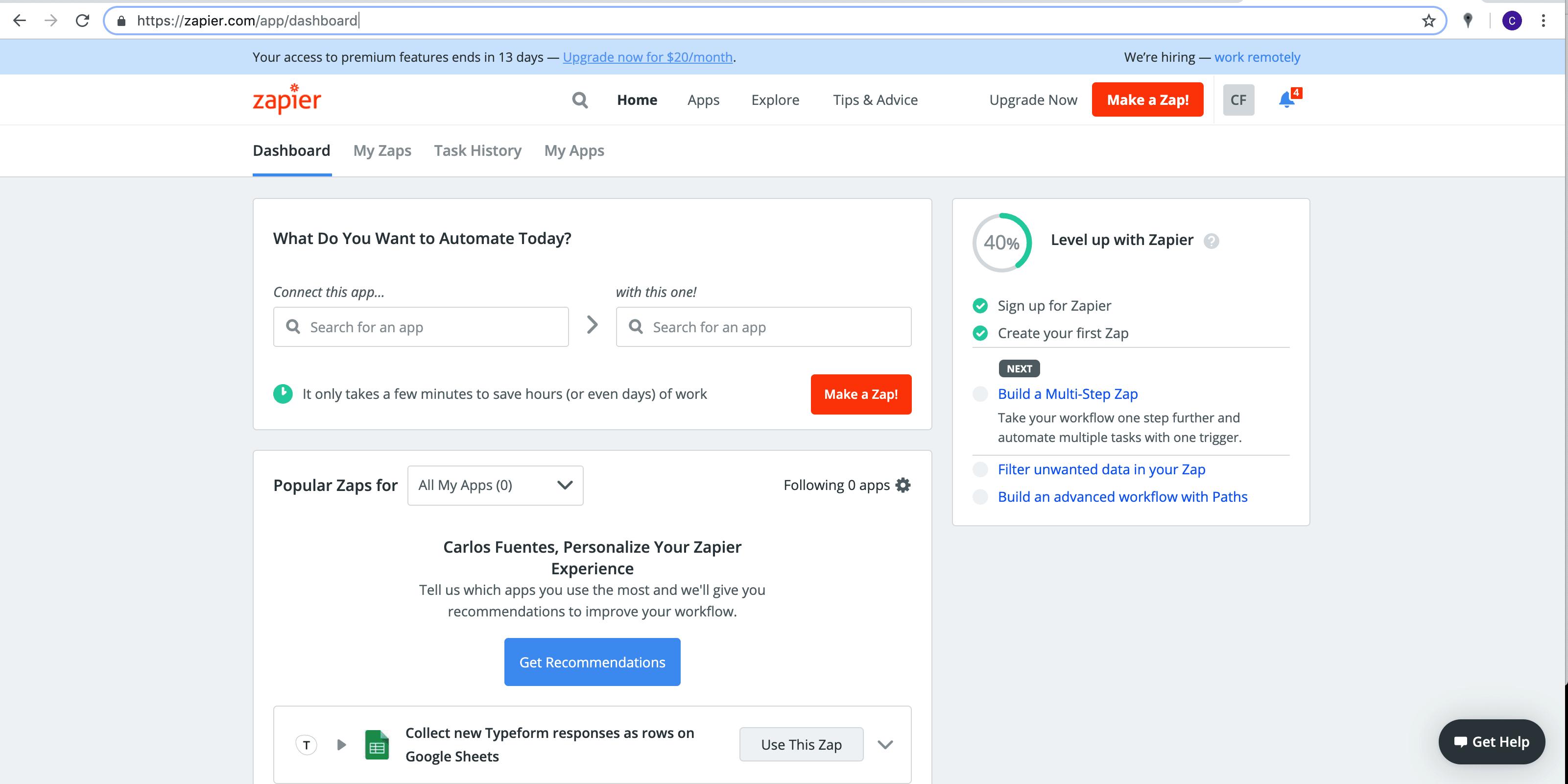 Zap Send Personalized e-mail