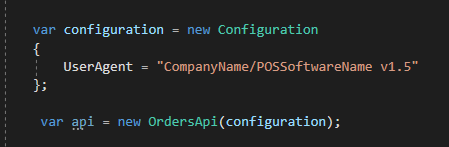 .NET C# example showing how to set the user-agent.