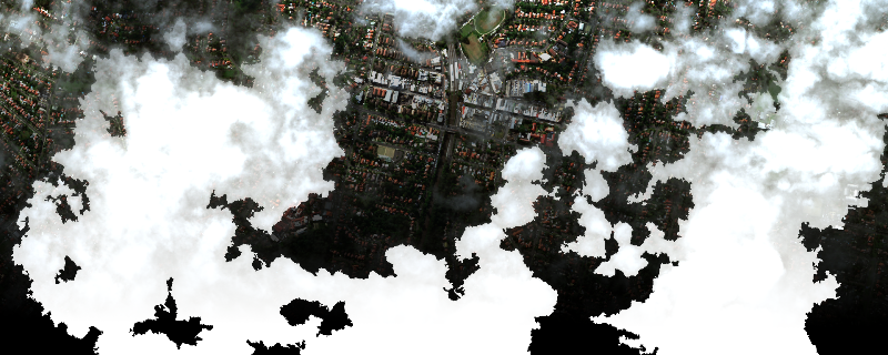 Output image with 8-band cloud mask applied