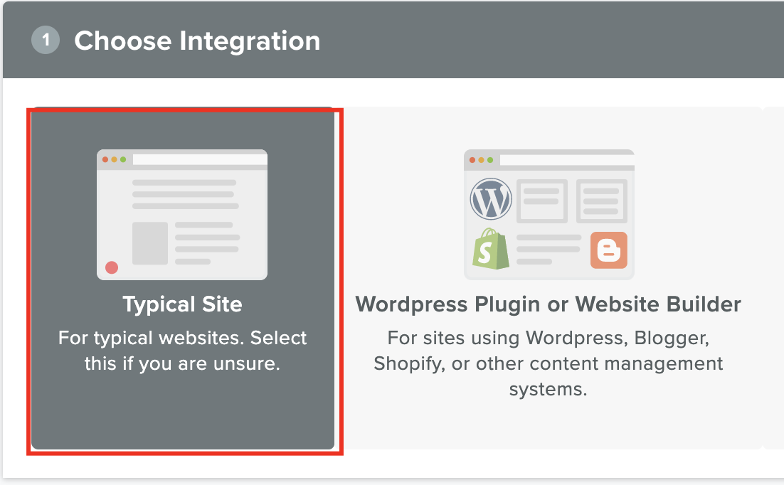 "Seleccionar ""Typical Site""."