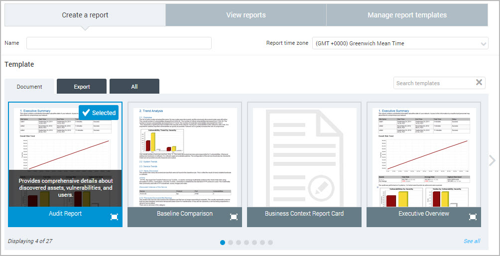 Creating a basic report – Basic Report Template