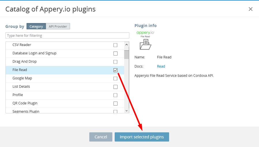 Importing File Read plugin