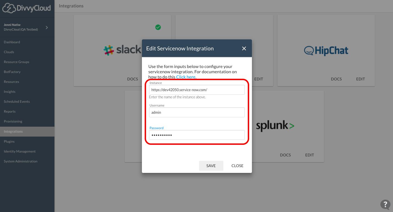 ServiceNow Integration