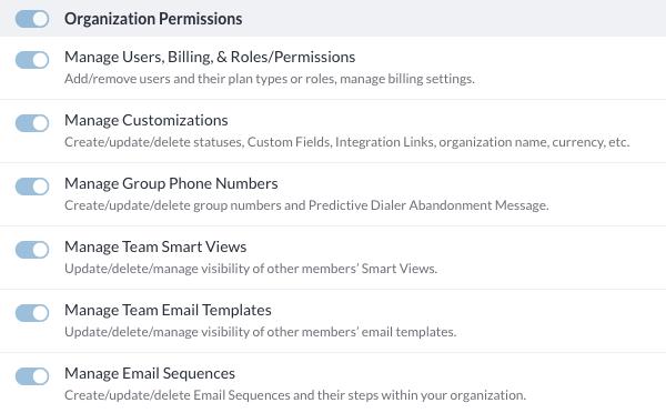 Organization Permissions
