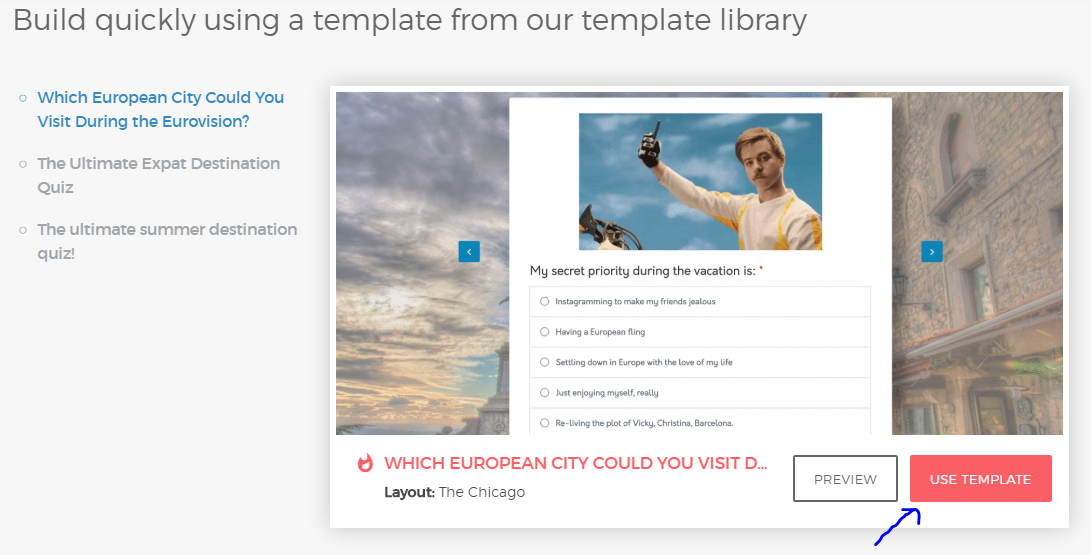 how to review premade templates on outgrow