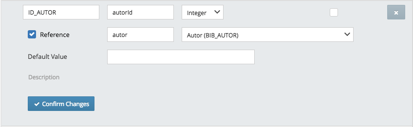 Uma coluna `ID_AUTOR` foi criada referenciando a entidade de Autor.
