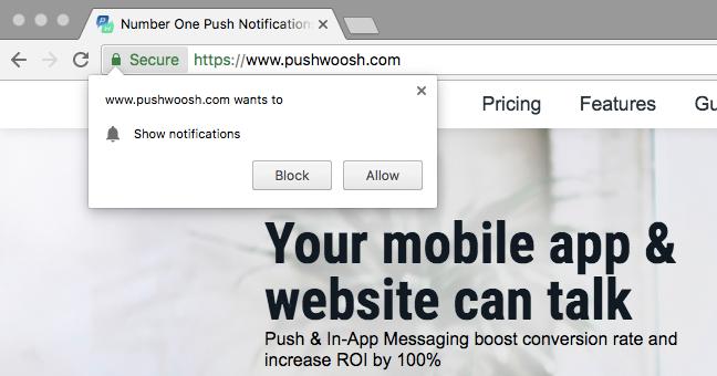 Chrome Configuration - Pushwoosh