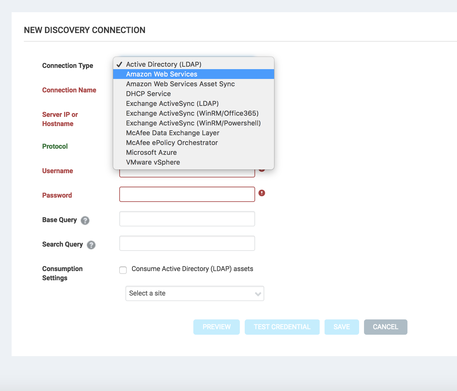 Creating and managing dynamic discovery connections selecting a discovery connection type 1betcityfo Gallery