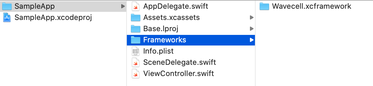 Copy Framework to Xcode Project