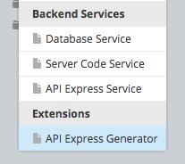 Launching API Express Generator.