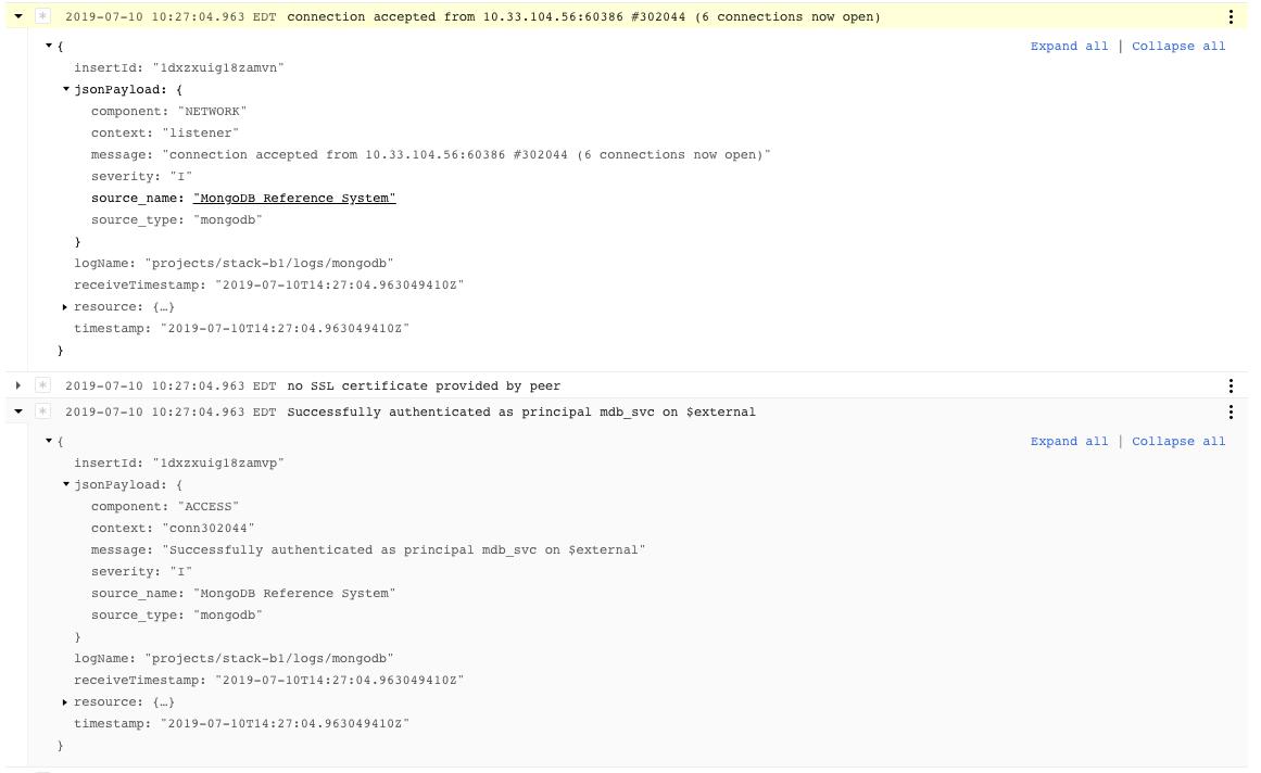 MongoDB Logs Example