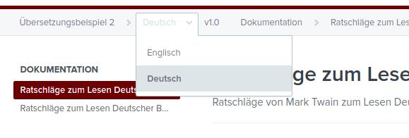 language picker