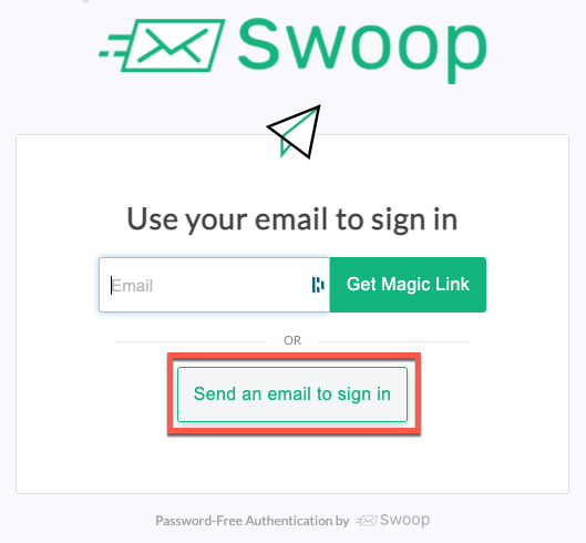 Send an email to login