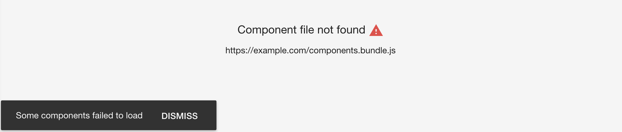 Dashboards this means your components file could not be loaded correctly this can be caused by yelopaper Images