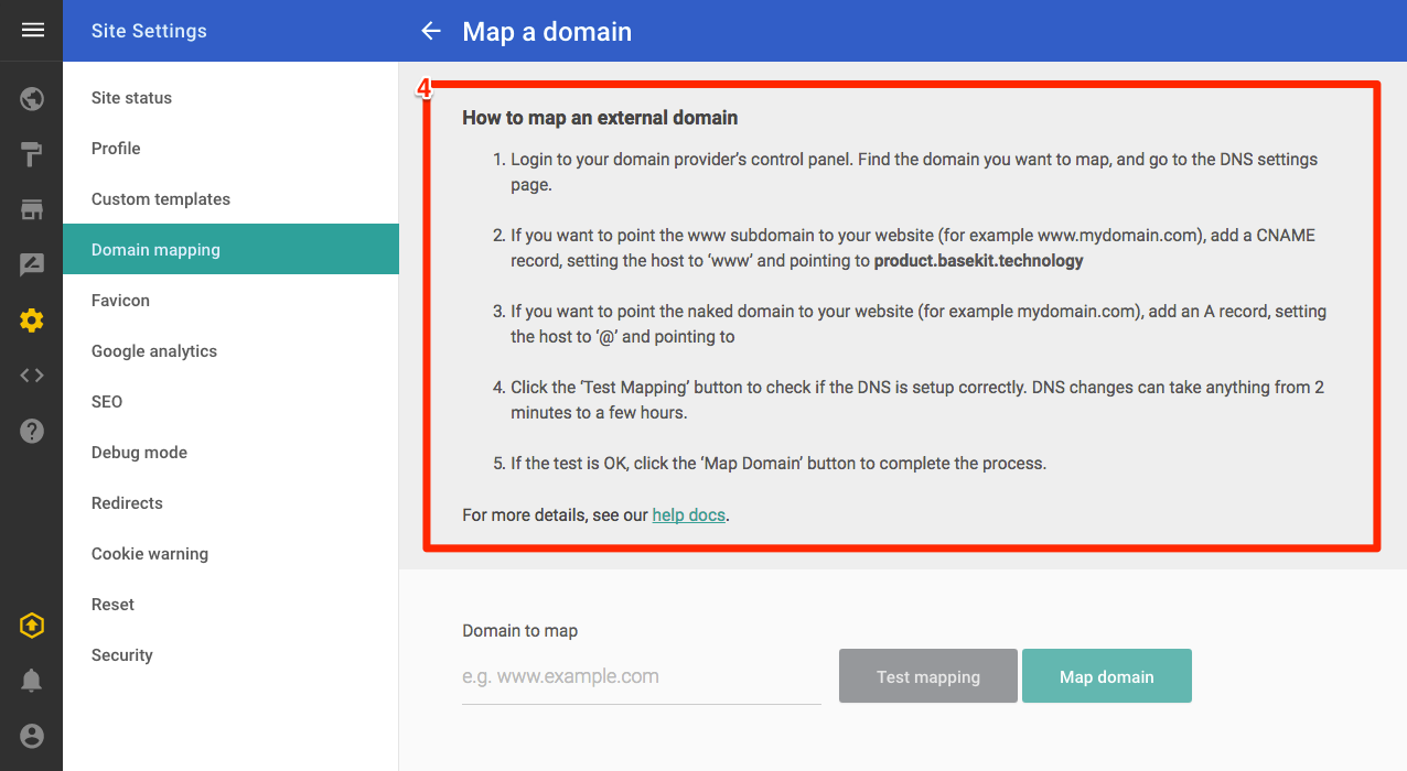 How to map an external domain