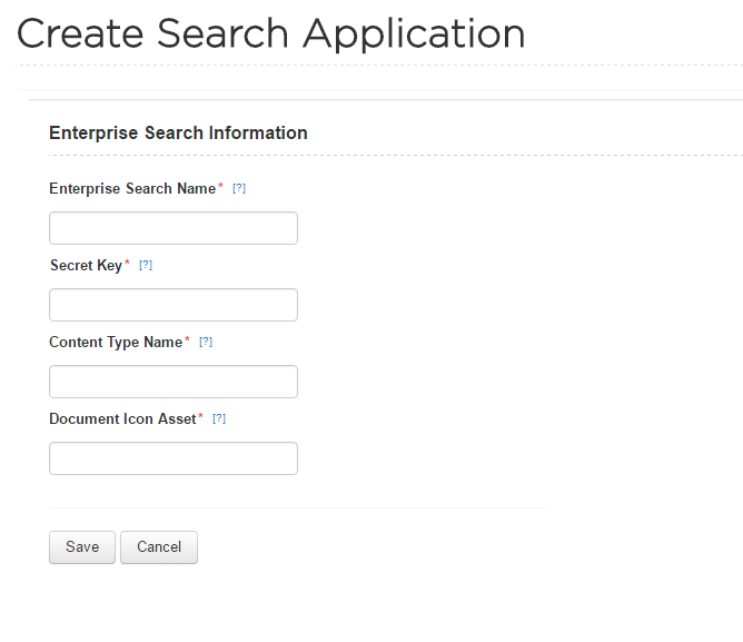 Create Enterprise Search