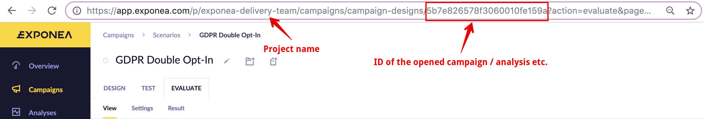 Double-click on any part of the ID to select it easily.