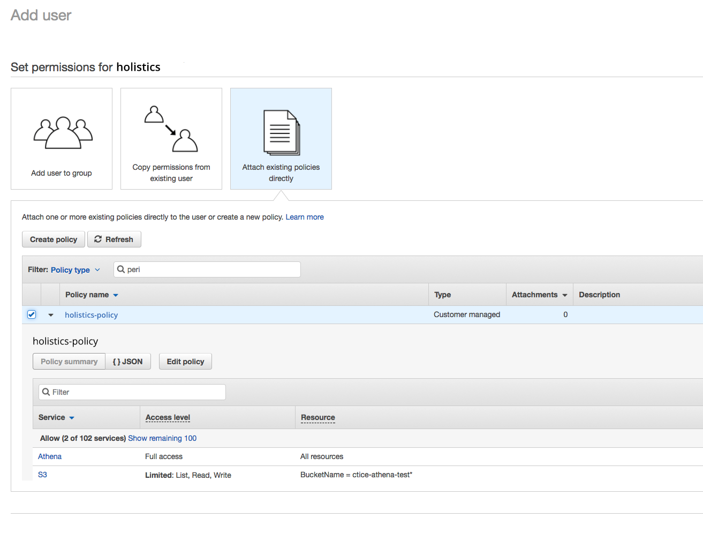 Amazon AWS Athena Setup