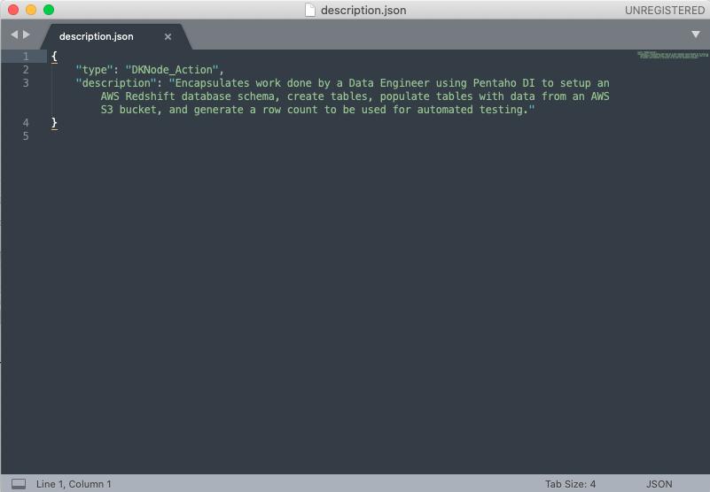 A view of the pentaho-di-node's description.json file.