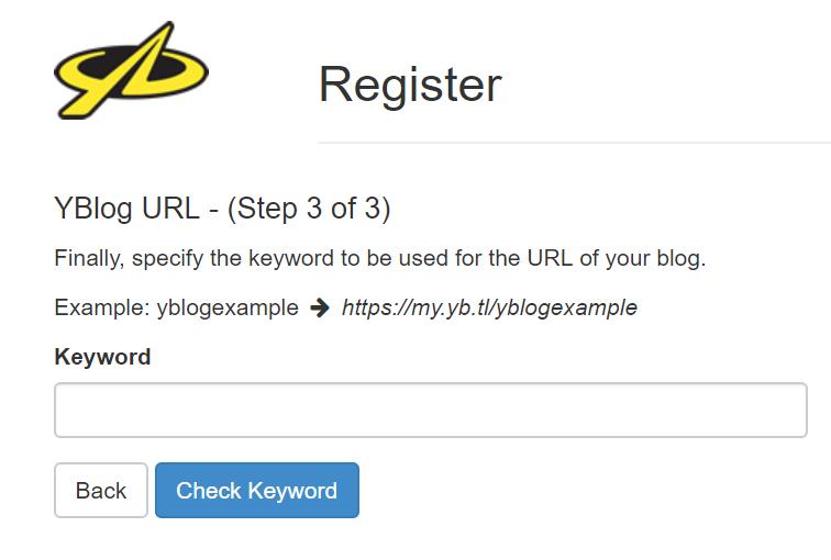 Enter your Blog URL