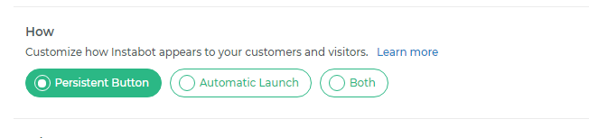 How - Persistent Button vs Automatic Launch