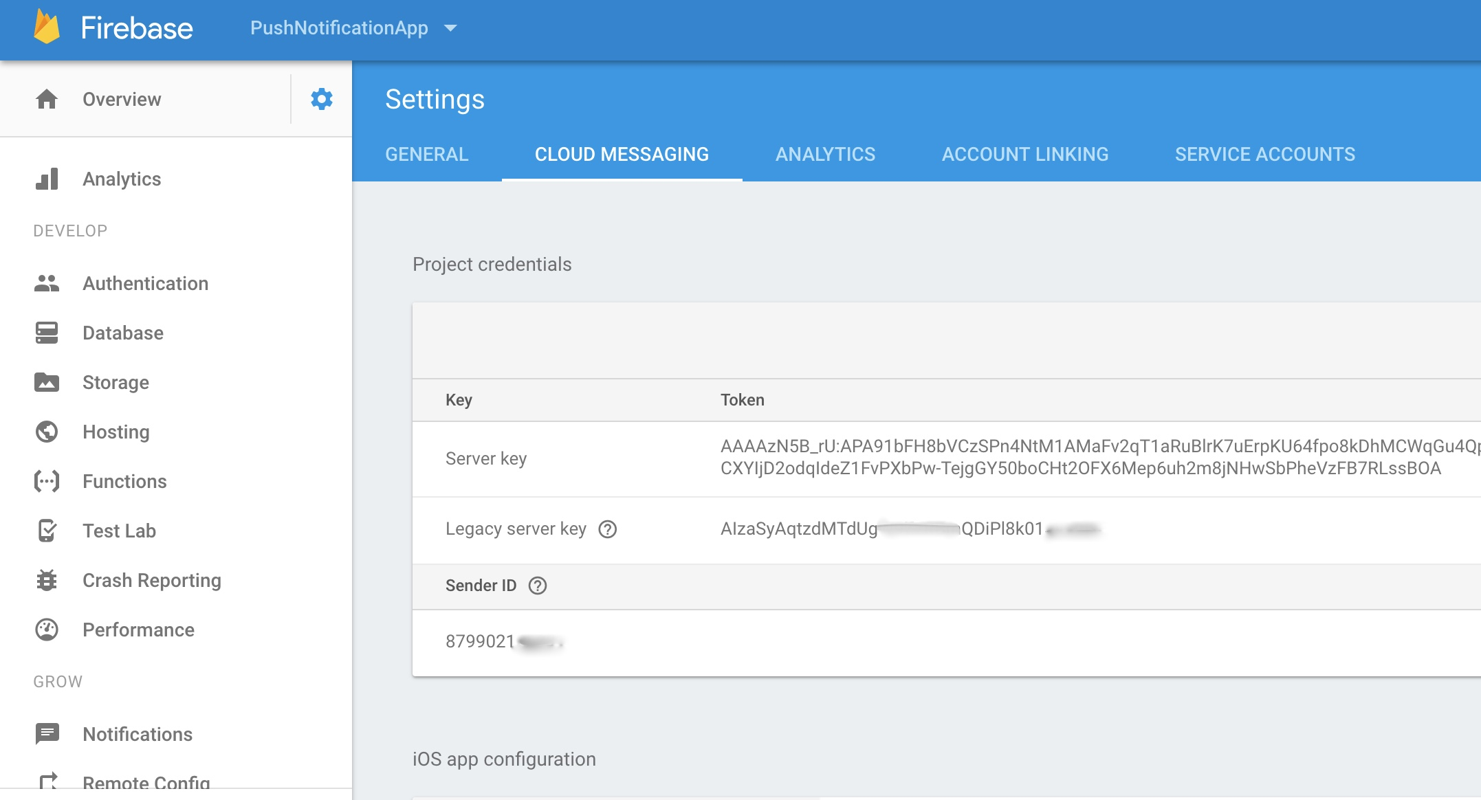 Find Your FCM Sender ID & FCM Server API Key