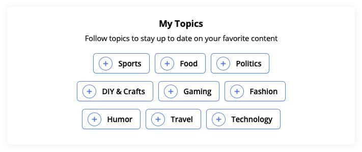 Topic Tracker's subscription widget