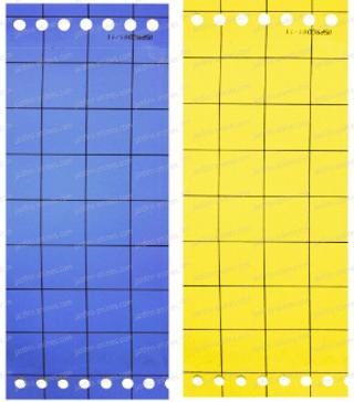 Plaques engluées jaunes et bleues