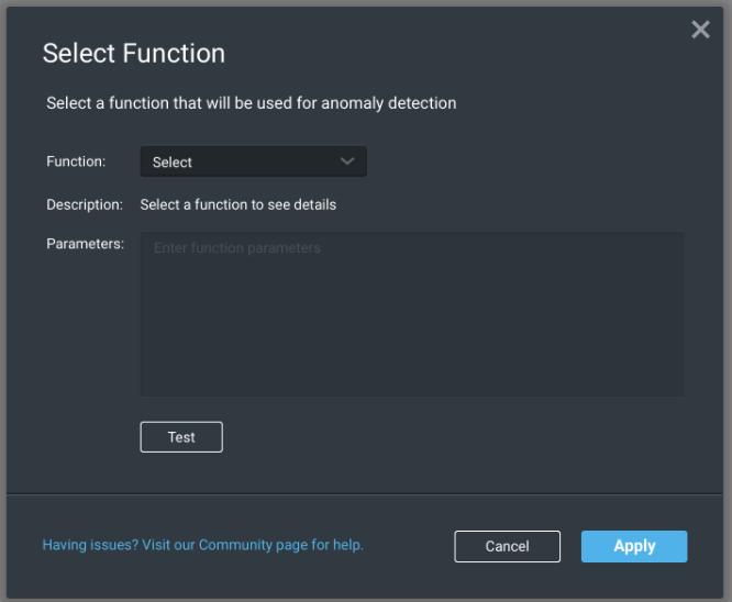 Select Function Dialog Box
