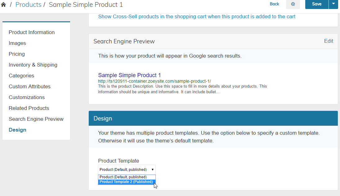Multiple Product Templates