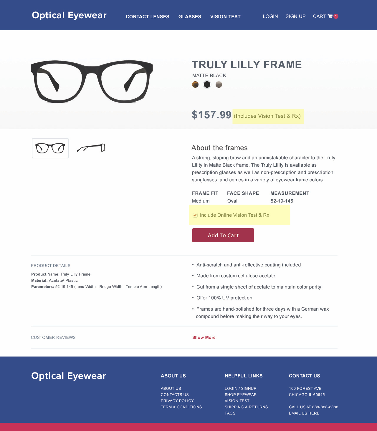 Ex. Individual Product Page