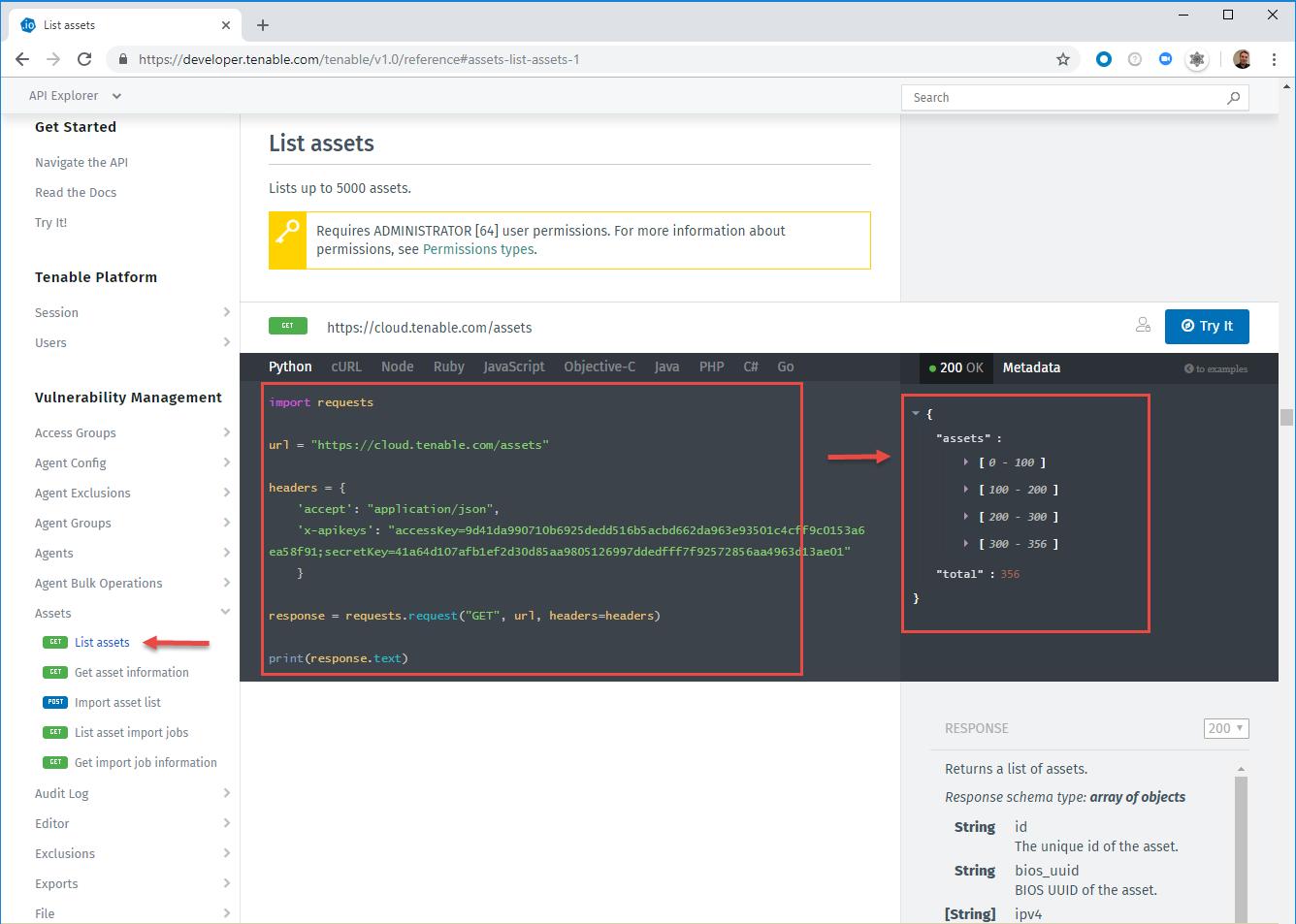 API Explorer API Key