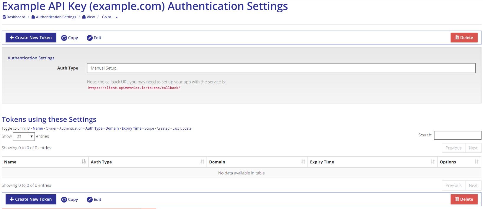 Setting Up API Key Based Authentication